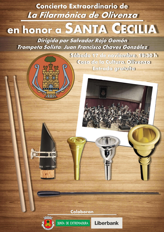 """""""La Filarmónica"""" celebra el próximo sábado 17 su tradicional concierto de Santa Cecilia"""
